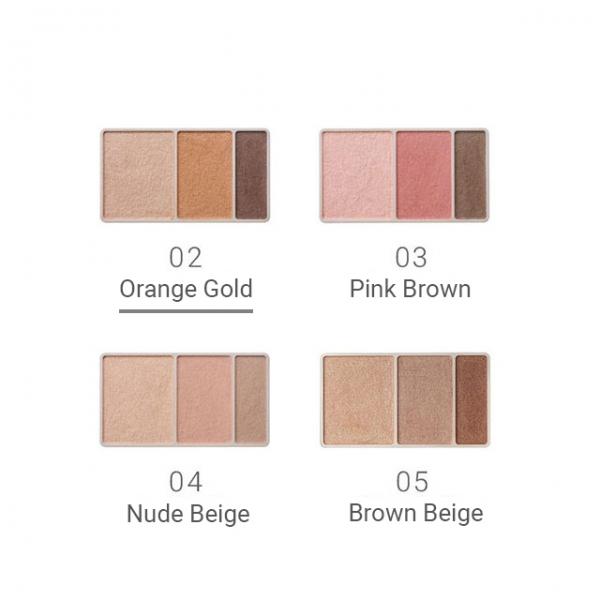 Naturaglacé Eye Color Palette 02 Orange Gold