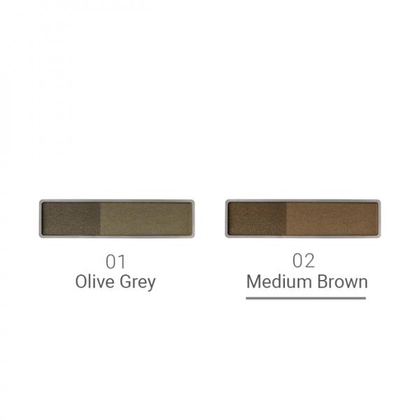 Naturaglacé Eyebrow Powder 02 Medium Brown