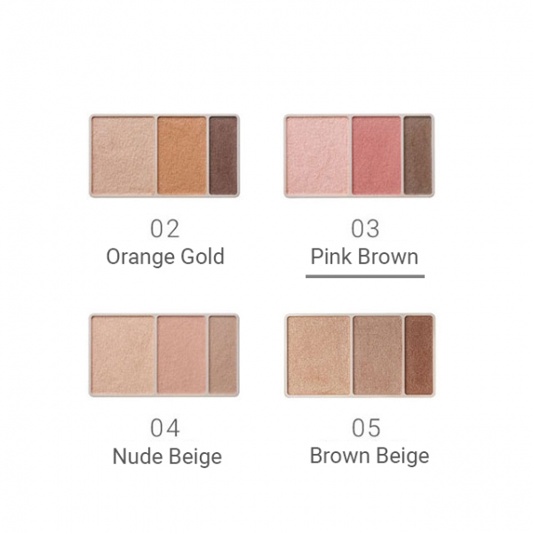 Naturaglacé Eye Color Palette 03 Pink Brown